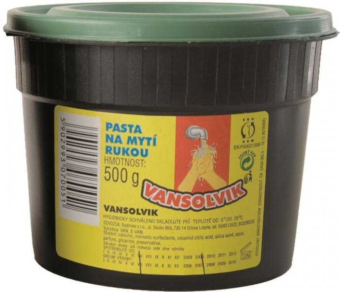 Pasta de curatat mainile cu glicerina VANSOLVIK - 500g 0