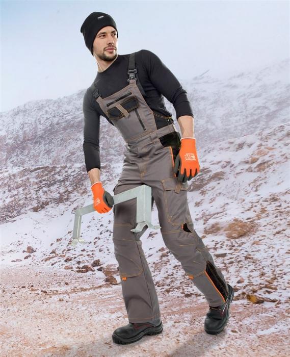 Pantaloni cu pieptar vatuiti de iarna VISION 1