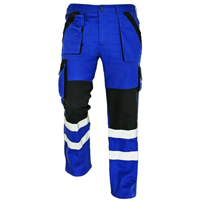 MAX REFLEX |pantaloni de lucru din bumbac cu benzi reflectorizante 0